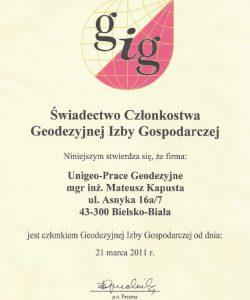 Firma jest członkiem GIG od 2011r.